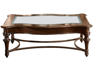 Kingston Rectangular Coffee Table, Brown, , large