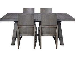 Orchard Park Weathered White 5 Piece Dining Set