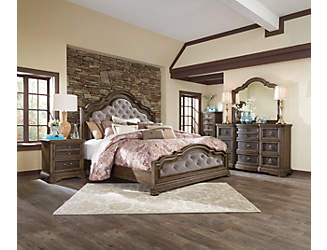 valley springs king bed - Exclusive Furniture Bedroom Sets