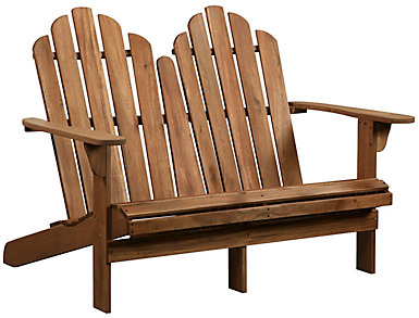 Adirondack Double Bench, Brown, , large