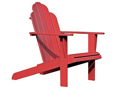 Adirondack Chair, Red, large