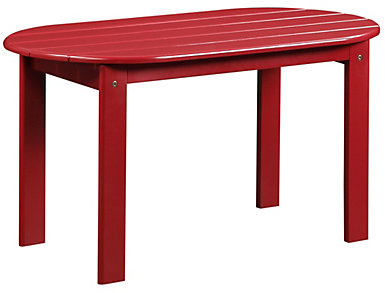 Adirondack Coffee Table, Red, large