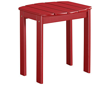 Adirondack End Table, Red, Red, large