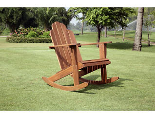 Adirondack Rocker, Brown, , large