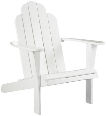 Adirondack Chair, Brown, White, swatch