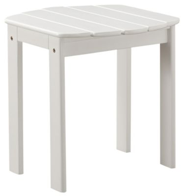 Adirondack End Table, Red, White, swatch