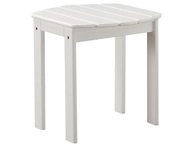 Adirondack End Table, White, large