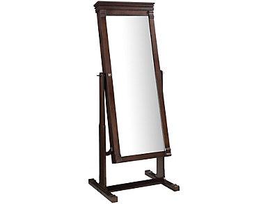 Angela Walnut Cheval Mirror, , large