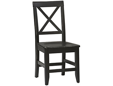 Anna Black X Back Dining Chair, , large