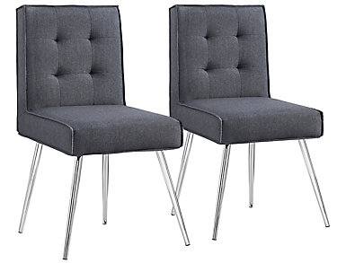 Astra Chair (Set of 2), Grey, , large
