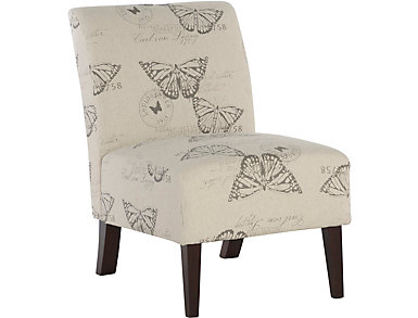 Sari Butterfly Armless Chair, , large