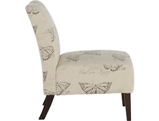 Sari Butterfly Armless Chair, Beige, large