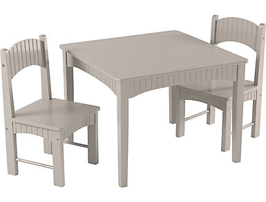 Turner Gray Table & Chair Set, , large