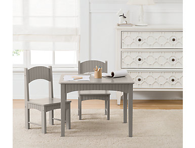 Turner Gray Table and Chair Set, , large