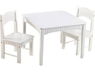 Turner White Table & Chair Set, , large