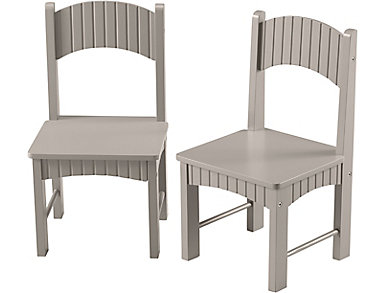 Tyson Gray Set of Two Chairs, , large