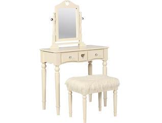 Sally White Youth Vanity Set, , large