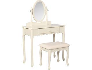 Lilia White Youth Vanity Set, , large