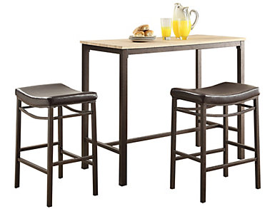 Betty Three Piece Pub Set, , large