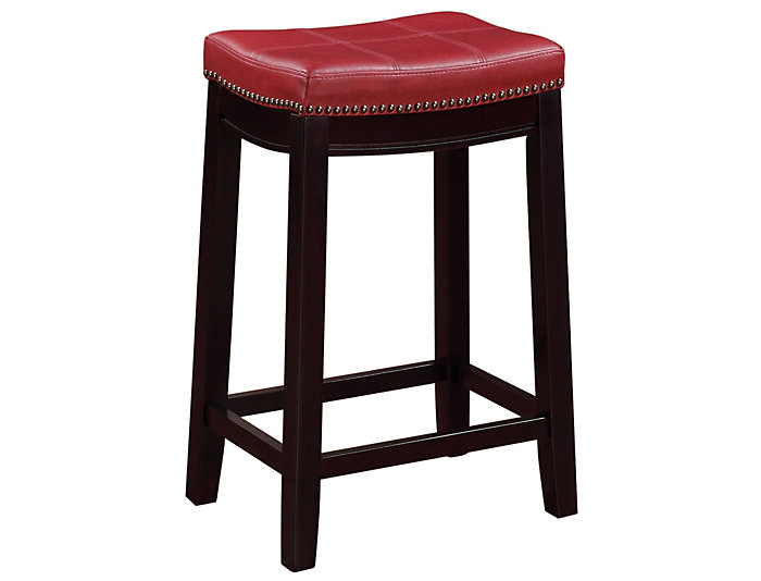 Claridge Red Counter Stool, , large