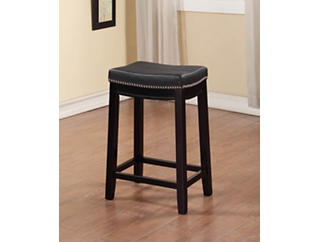Claridge Black Counter Stool, Black, large