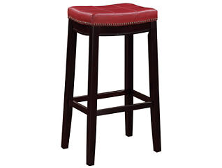 Claridge Red Bar Stool, , large