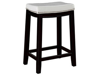 Claridge White Counter Stool, , large