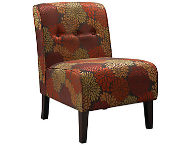 Coco Accent Chair, Harvest Red, Red, large