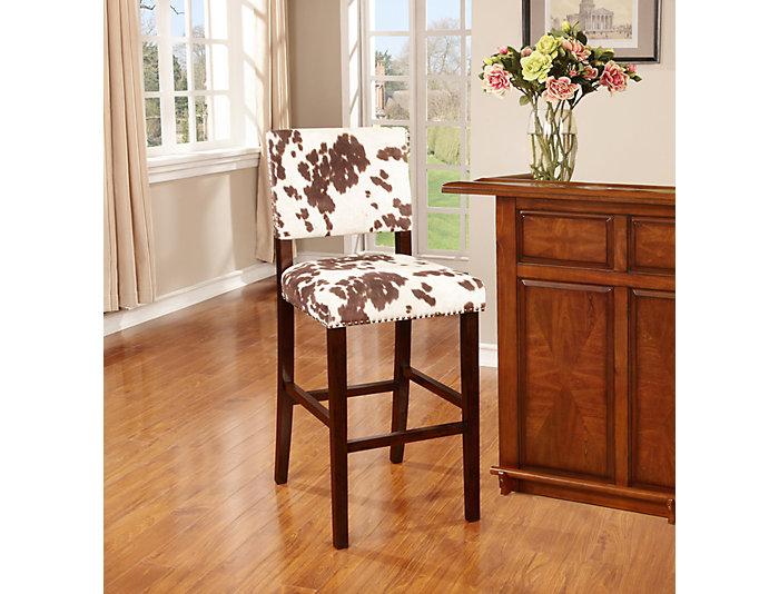 Corey cowprint bar stool, , large