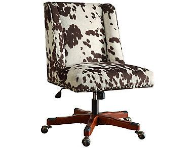 Draper Brown Print Office Chair, , large