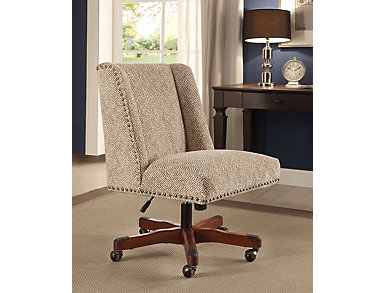 Draper Office Chair, Brown, large
