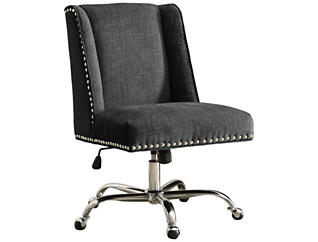 Draper Charcoal Office Chair, , large
