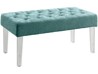 Ella Teal Acrlyic Bench, , large