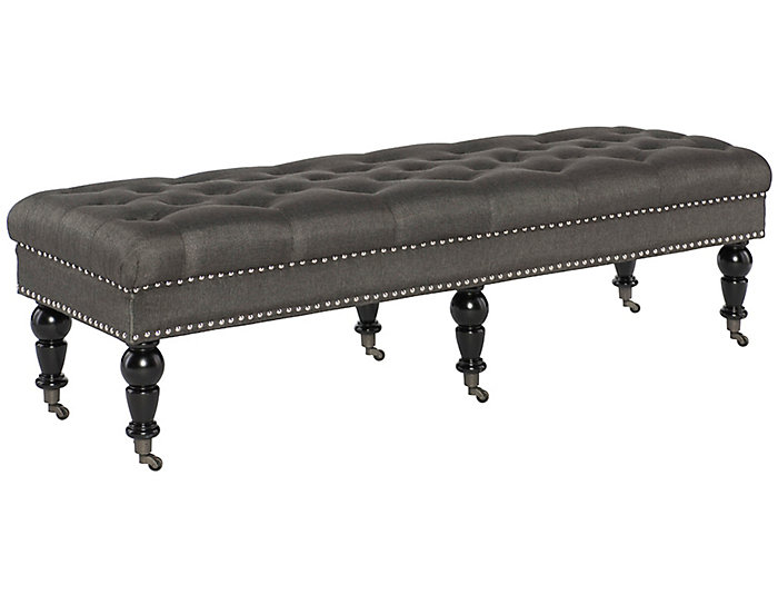Isabelle Large Charcoal Bench, , large