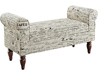Lillian Linen Bench, , large