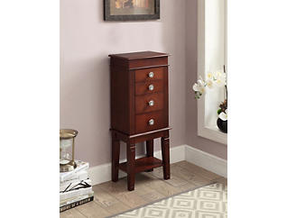 Madison Walnut Jewelry Armoire, Brown, large