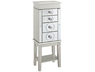 Madison Silver Jewelry Armoire, , large