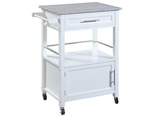Mitchell White Kitchen Cart, , large
