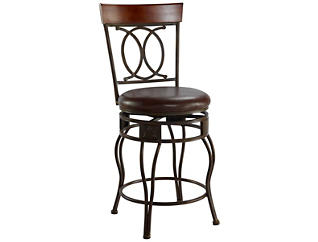 O and X Back Counter Stool, , large
