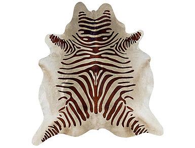 Cowhide Brown Zebra Rug, , large