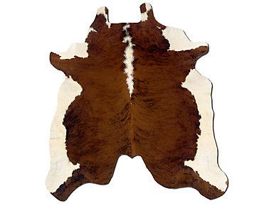 Cowhide Dark Brown Rug, , large