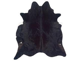 Cowhide Black Rug, , large