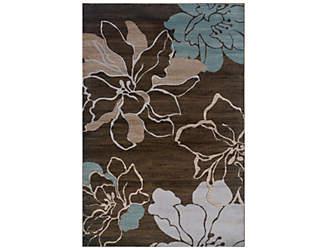 Milan Brown Flower 5x8 Rug