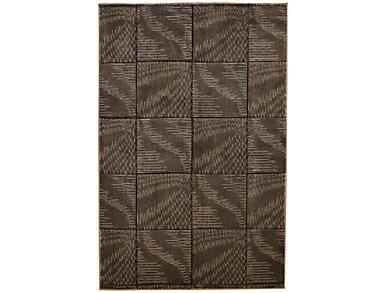 Milan Abstract Brown 5x8 Rug, , large