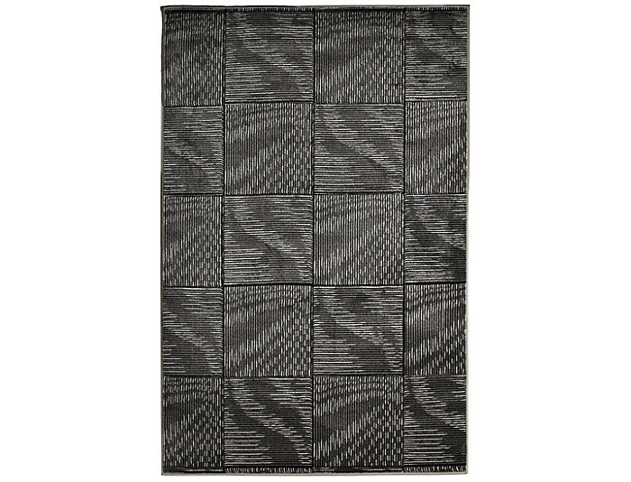 Milan Abstract Black Area Rug 5' x 8', , large