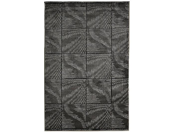 Milan Abstract Black 5x8 Rug, , large