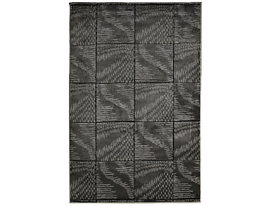Milan Abstract Black Area Rug  8' x 10', , large