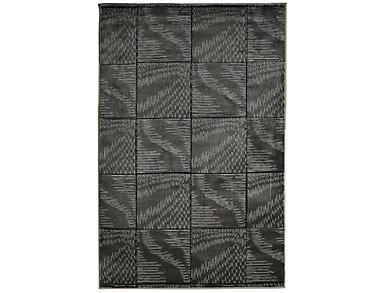 Milan Abstract Black 8x10 Rug, , large
