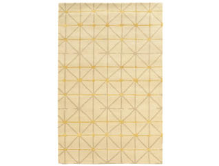 Aspire Pane Wool Ivory 5x8 Rug, , large