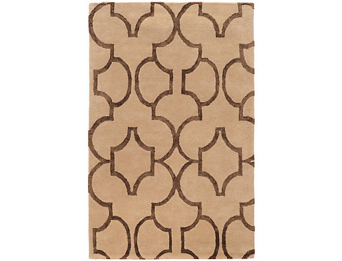 Aspire Geometric Beige 5x8 Rug, , large